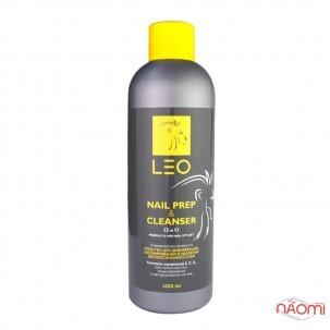 Засіб для видалення липкого шару і підготовлювач нігтя LEO Cleanser and Nail Prep, 1000 мл