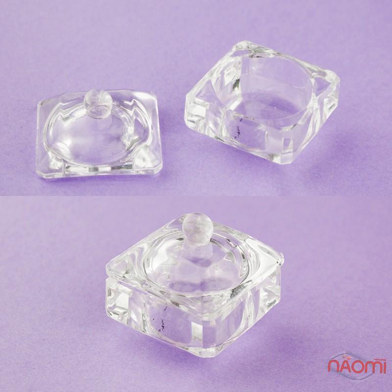 Стаканчик для мономера з кришкою, скляний, колір в асортименті, фото 2, 50.00 грн.