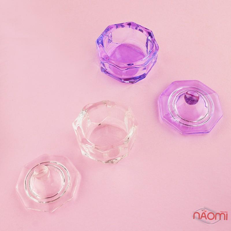 Стаканчик для мономера з кришкою, скляний, колір в асортименті, фото 5, 50.00 грн.