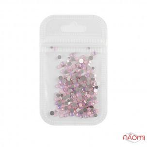 Стрази ss4-ss20, Opal Pink, колір рожевий перламутр