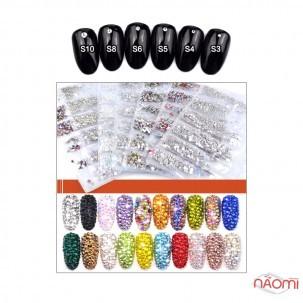 Стразы ss3-ss10 Mix, цвет ассорти, 1728 шт.