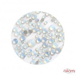 Стрази ss4-ss20, Opal White, колір білий перламутр