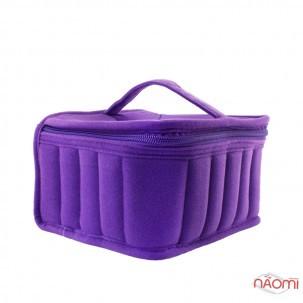 Сумка для транспортування та зберігання гель-лаків, 30 комірок 20х18х10 см, колір фіолетовий