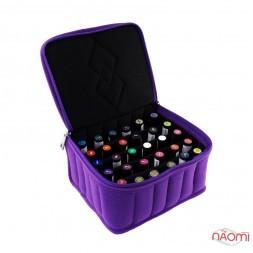Сумка для транспортировки и хранения гель-лаков, 30 ячеек 20х18х10 см, цвет фиолетовый