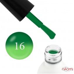 Термо гель-лак Koto 016 зеленый, при нагревании переходит в салатовый, 5 мл