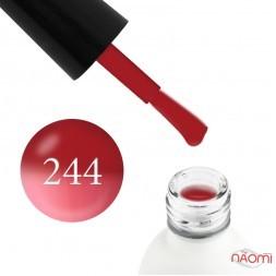 Термо гель-лак Koto 244 темно-красный, при нагревании переходит в розовый, 5 мл