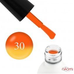 Термо гель-лак Koto 030 оранжевый, при нагревании переходит в желтый, 5 мл