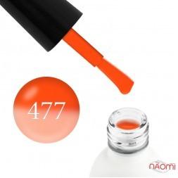 Термо гель-лак Koto 477 оранжевый, при нагревании в светлый лососевый, 5 мл
