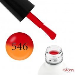 Термо гель-лак Koto 546 красный, при нагревании переходит в оранжевый, 5 мл