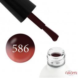 Термо гель-лак Koto 586 коричневый, при нагревании переходит в розово-коралловый, 5 мл