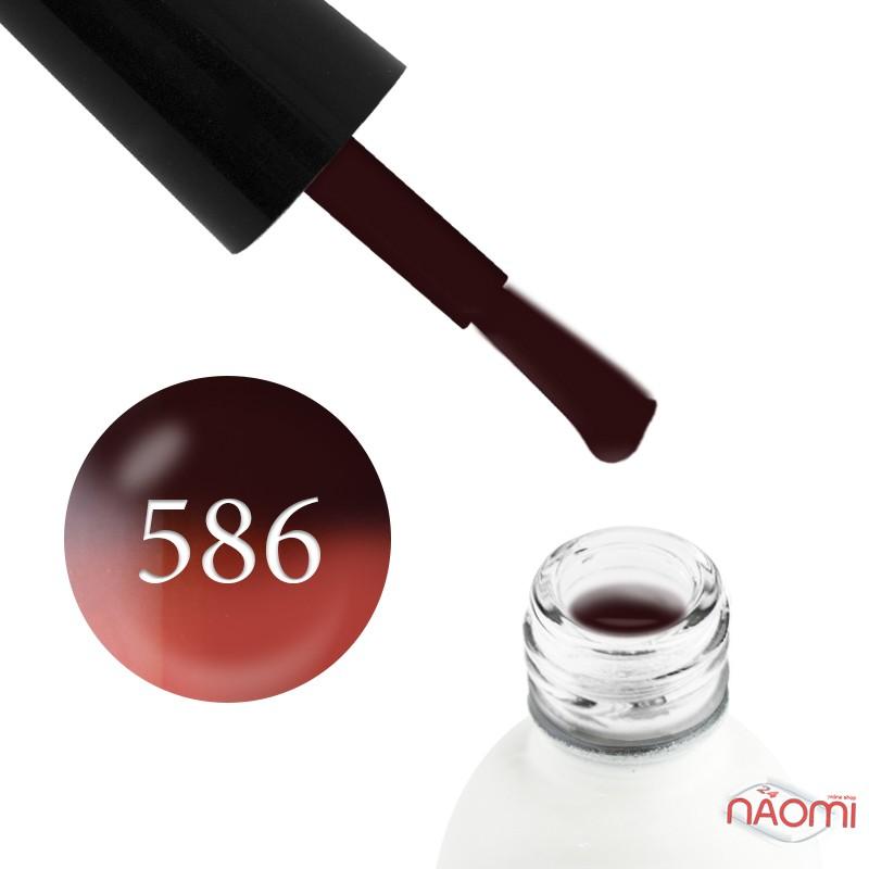 Термо гель-лак Koto 586 коричневий з переходом в рожево-кораловий, 5 мл, фото 1, 59.00 грн.