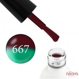 Термо гель-лак Koto 667 коричневый, при нагревании переходит в зеленый, 5 мл