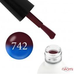Термо гель-лак Koto 742 коричневый, при нагревании переходит в синий, 5 мл