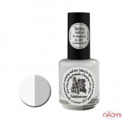 Термо фарба для стемпінга EL Corazon - Kaleidoscope № st-201, тепло-білий, холод-сірий