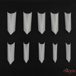Типсы YRE для наращивания ногтей треугольные, 100 шт., матовые