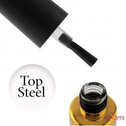 Топ для гель-лака без липкого слоя F.O.X Steel Top, 12 мл