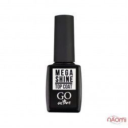 Топ для гель-лака без липкого слоя GO Active Mega Shine Top Coat, 10 мл