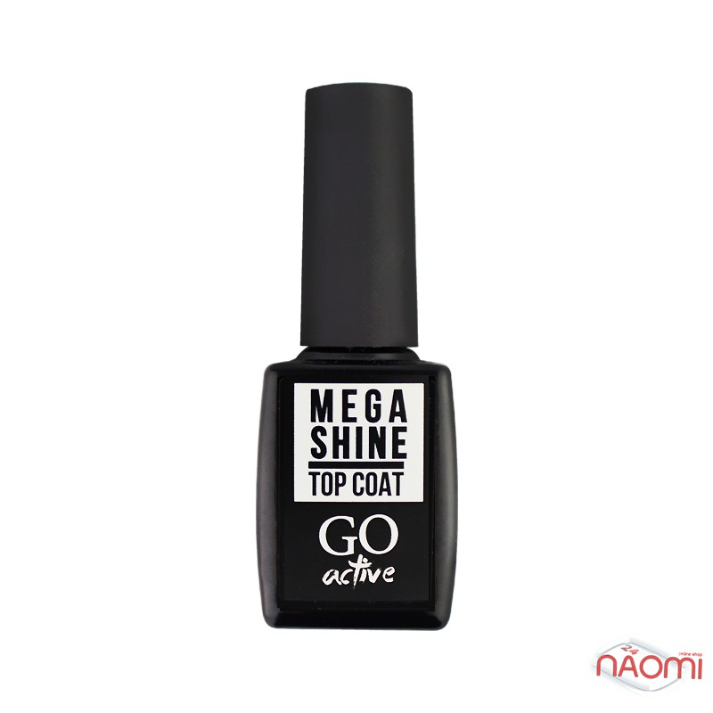 Топ для гель-лака без липкого слоя GO Active Mega Shine Top Coat, 10 мл, фото 1, 130.00 грн.