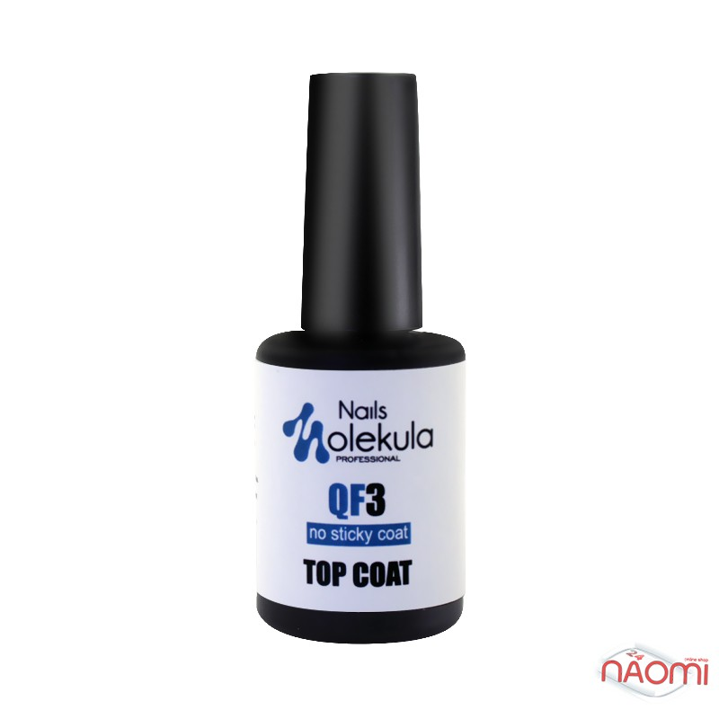 Топ для геля и гель-лака без липкого слоя Nails Molekula QF3 No Sticky Top Coat, 12 мл, фото 1, 145.00 грн.