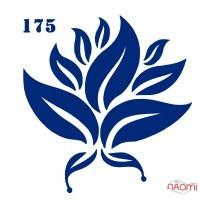 Трафарет для временного тату 175 Цветы, 6х6 см