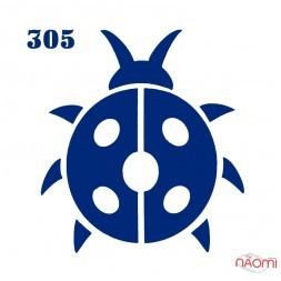 Трафарет для временного тату 305 Жук, 6х6 см
