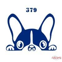 Трафарет для временного тату 379 Собака, 6х6 см