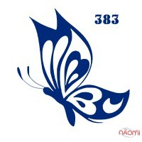 Трафарет для временного тату 383 Бабочка, 6х6 см