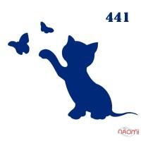 Трафарет для временного тату 441 Кошки, 6х6 см