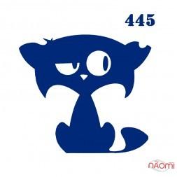 Трафарет для временного тату 445 Кошки, 6х6 см