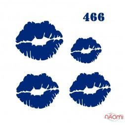 Трафарет для временного тату 466 Губы, 6х6 см