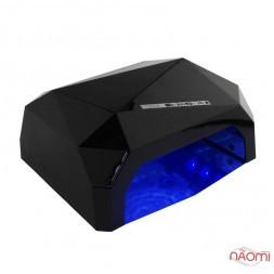 УФ LED + CCFL лампа для гель-лаків і гелю 36W, з таймером 10, 30 і 60 с, колір чорний
