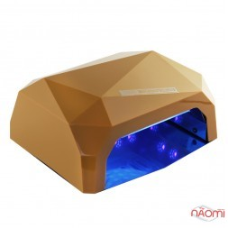 УФ LED+CCFL лампа для гель-лаков и геля 36W, сенсорная, с тайм. 10, 30 и 60 сек., цвет темно-желтый