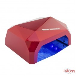 УФ LED + CCFL лампа для гель-лаків і гелю 36W, з таймером 10, 30 і 60 с, колір червоний