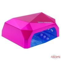 УФ LED+CCFL лампа для гель-лаков и геля 36W, сенсорная, с таймером 10, 30 и 60 сек., цвет розовый