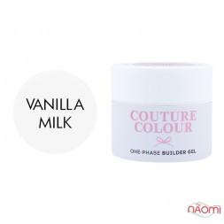 Гель однофазний Couture Colour 1-phase Builder Gel Vanilla milk молочно-білий, 50 мл