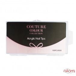 Верхні форми для нарощування нігтів Couture Colour Nail Tips, силіконові, прозорі, 100 шт.