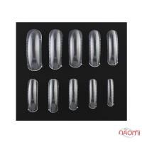 Верхние формы для наращивания ногтей Starlet Professional с разметкой, прозрачные, 120 шт.