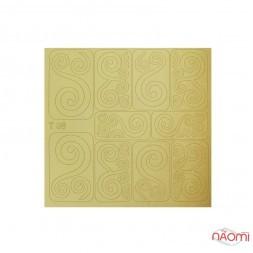 Виниловый трафарет для дизайна T 096, Узоры, цвет золото