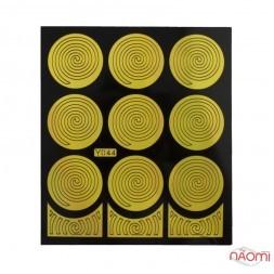 Виниловый трафарет для дизайна спираль, Y044