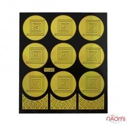 Виниловый трафарет для дизайна квадрат, Y045