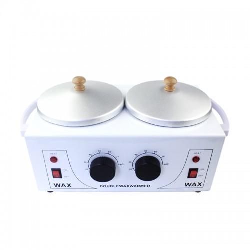 Воскоплав баночный Double Wax Warmer с терморегулятором на 2 банки, цвет белый , фото 1, 750.00 грн.