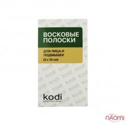 Восковые полоски Kodi Professional для лица и подмышек, 20 шт. и 2 салфетки