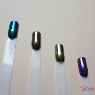 Зеркальная втирка Born Pretty Павлин 41002-7, цвет ярко-зеленый, 0,2 г