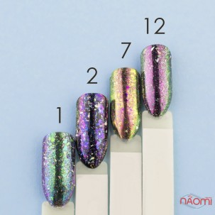Зеркальная втирка Юки Starlet Professional ST 02, цвет фиолетовый, 0,1 г
