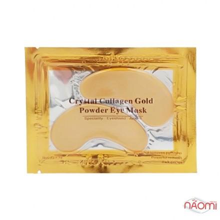 Патчи коллагеновые под глаза Crystal Eye Mask, с маслом виноградных косточек, золотые, 6 г, фото 1, 15.00 грн.