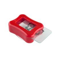 Одностороний штамп и скрапер для стемпинга Konad Clear Gelly Stamp Happy Set, прозрачный