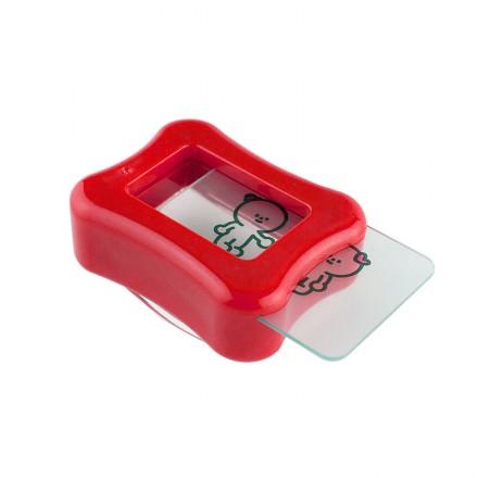 Одностороний штамп и скрапер для стемпинга Konad Clear Gelly Stamp Happy Set, прозрачный, фото 1, 120.00 грн.