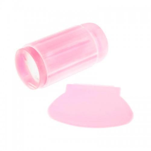 Односторонний силиконовый штамп и скрапер для стемпинга, цвет розовый, фото 1, 35.00 грн.