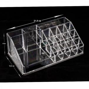 Органайзер для косметических средств, акриловый, 22x12,5x8 см