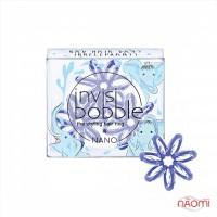 Резинка-браслет для волос Invisibobble NANO Bad Hair Day, цвет голубой, 3 шт, 20х3 мм